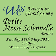 Wincanton Choral Society Performs Rossini on Sunday 18th May