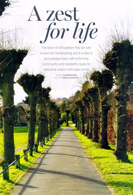 Somerset Life's Wincanton article cover page
