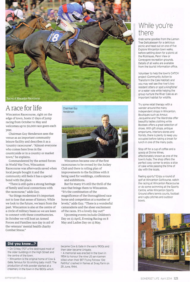 Somerset Life's Wincanton article, page two