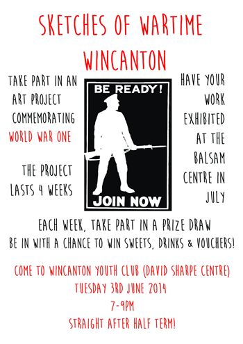 Youth Club 'Sketches of Wartime Wincanton' poster