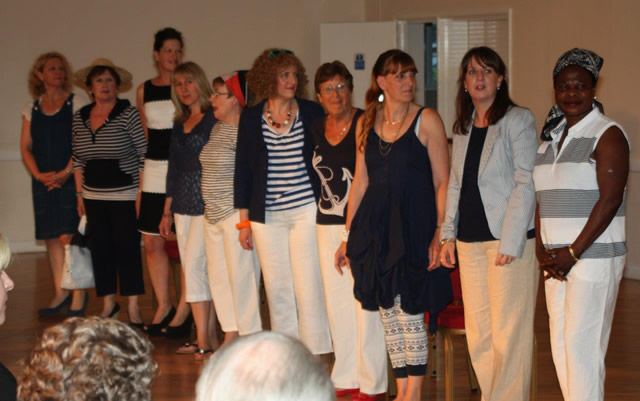 St Margaret's Hospice Fashion Show models