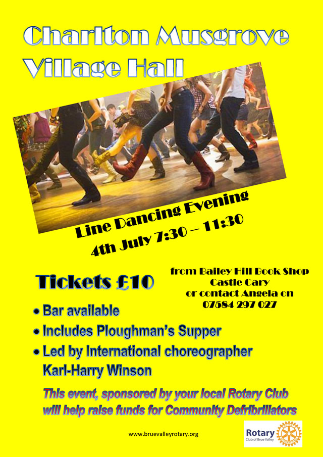 Line dancing for defibrillators poster