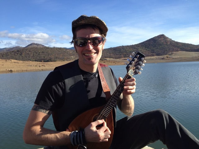 Daygan Robinson, well known and talented Mandolin player