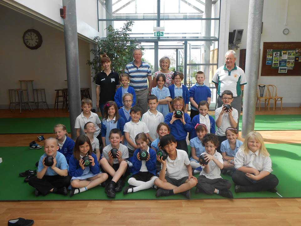 Wincanton Primary School Pupils Give Short Mat Bowls A Go