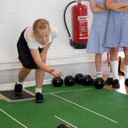 Wincanton Primary School Pupils Give Short Mat Bowls a Go!