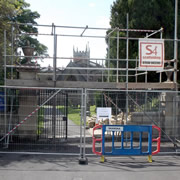 Repairs Begin on Wall at St Peter and St Paul's Church