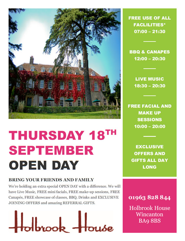 Holbrook House Open Day September 2014 poster