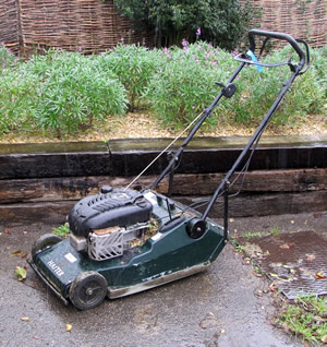 A lawnmower at the Balsam Centre