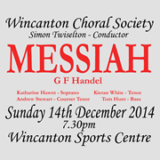 Wincanton Choral Society Concert - Handel's 'Messiah' on 14th December