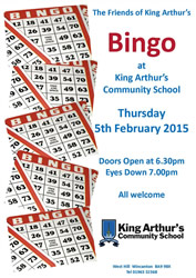 Friends of King Arthur's Bingo poster