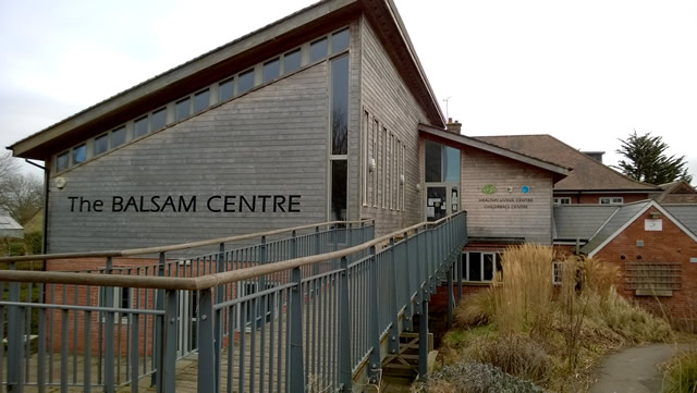 The Balsam Centre, Wincanton, front entrance