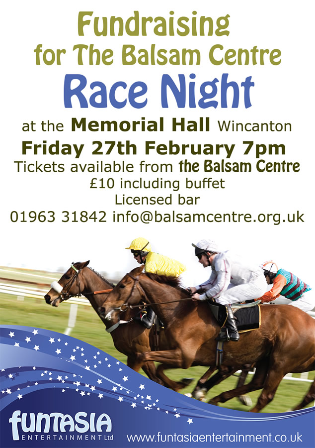 Race Night Fundraiser For The Balsam Centre