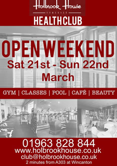 Holbrook House Health Club open weekend March 2015 poster