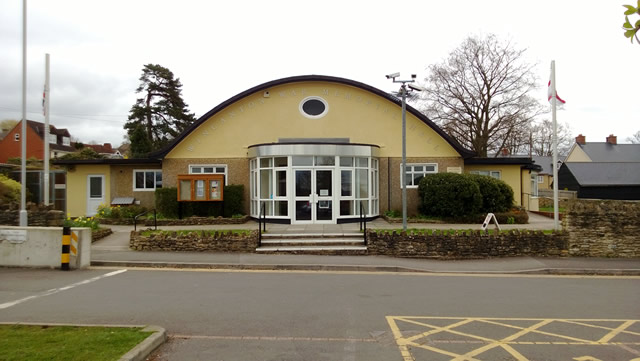 Wincanton Memorial Hall, venue for the parliamentary election husting, 2015