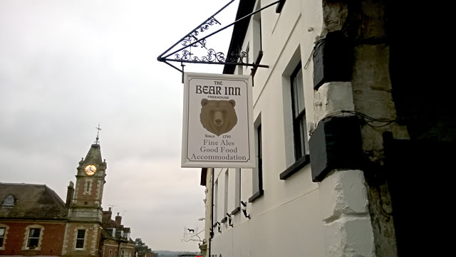 The Bear Inn, Wincanton, venue of the District and Town Council election husting