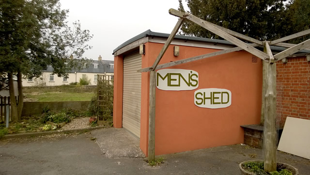 Before the sign, dominion over this shed was hotly contested