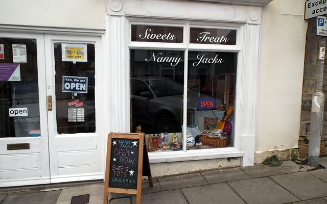 Nanny Jack's, the new sweets and groceries shop on Wincanton High Street
