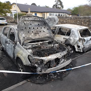 Car Blaze in Memorial Hall Car Park