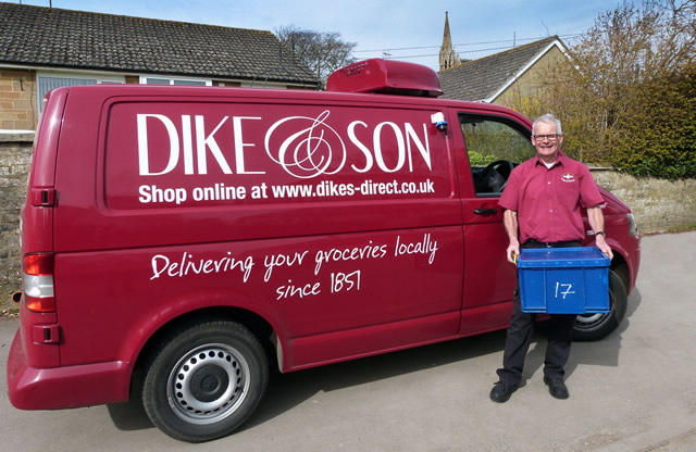 Tony, one of the drivers with the distinctive Dike's delivery van.