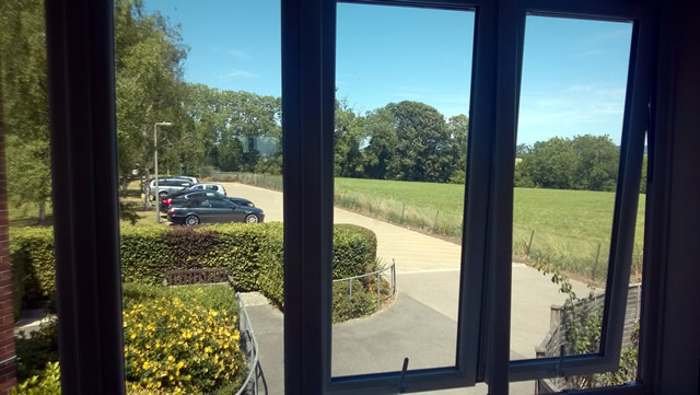 A view of the development site from inside Wincanton Community Hospital