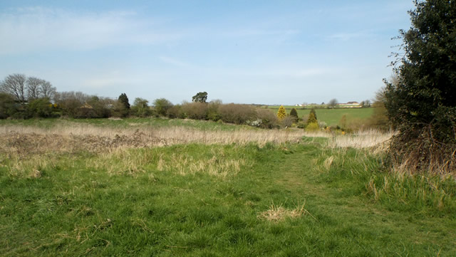 A view of Wincanton Racecourse from the Dancing Lane plot