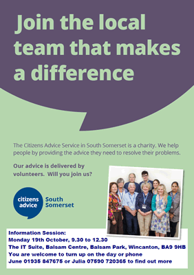 Citizens Advice team poster