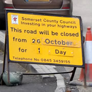 South Street Road Closure – Monday 26th October