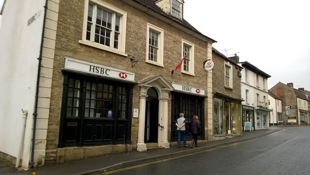 Wincanton's HSBC branch, closing January 2016