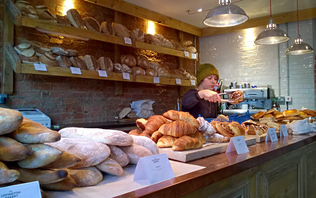 Breads and sweets at The Lovington Bakery, Wincanton
