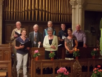 The choir of Wincanton Parish Church of St Peter and St Paul