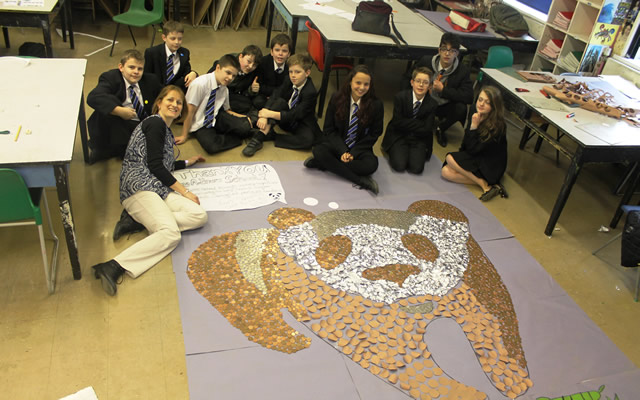 King Arthur's charity coin mural