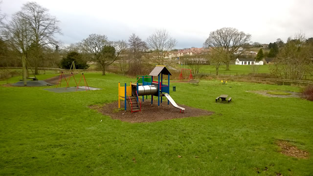 Cale Park play area, in desperate need of some TLC