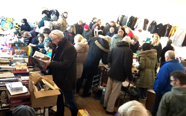 A previous CATCH jumble sale bustling with activity