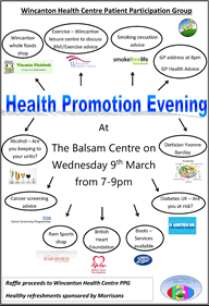 Health Promotion Evening poster