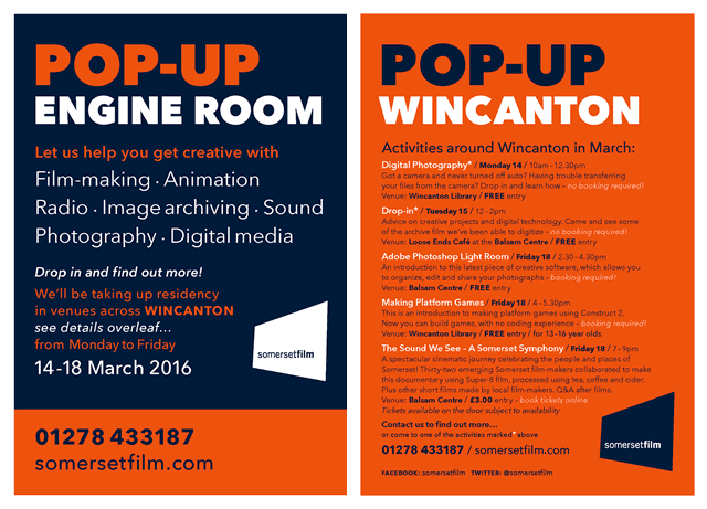 Pop-up Engine Room flyer