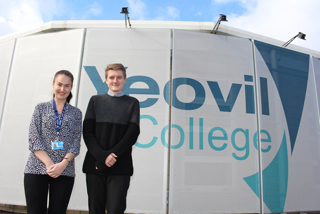 Nathan and Becky, apprentices at Yeovil College