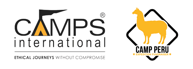 Camps International, and Camp Peru logos