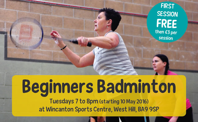 Beginners badminton for women and girls