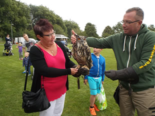 Owl handling at Wincanton Play Day 11th August 2016
