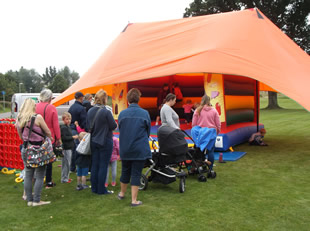 Bouncy castle at Wincanton Play Day 11th August 2016
