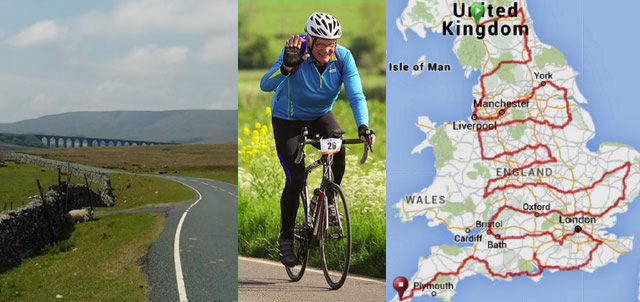 Chris Bailward on his cycling trip across the country in support of Sport Relief
