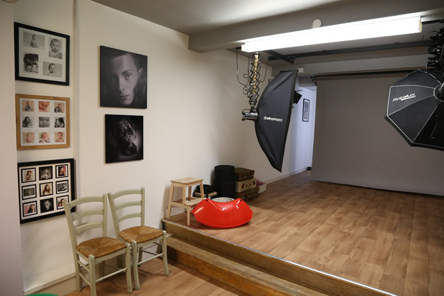 The photographic studio out the back
