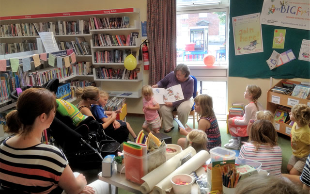 BFG storytime at Wincanton Library