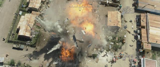 Eye in the Sky: un misil Hellfire disparado por un dron explotando