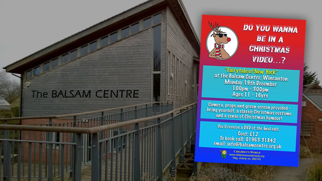 Christmas video workshop at the Balsam Centre