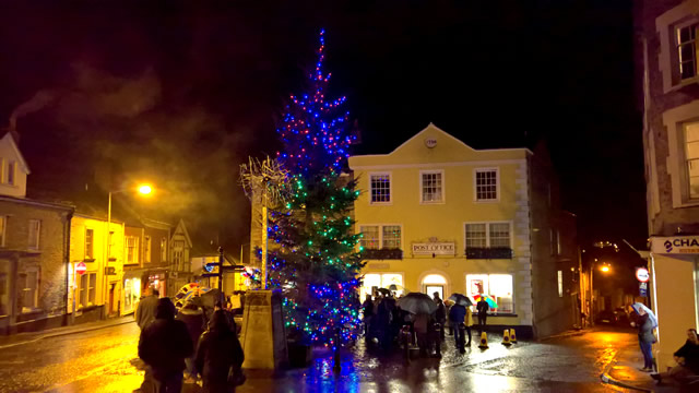 Wincanton's 2016 Market Place Christmas tree