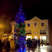 Late night Christmas shopping in Wincanton