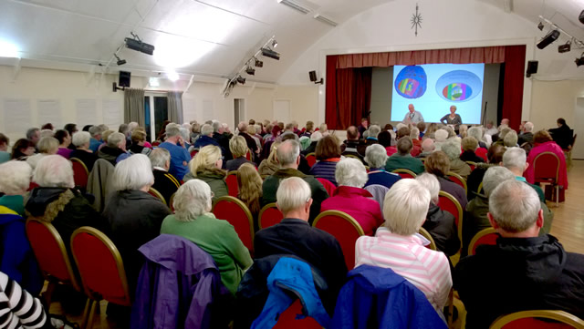 The audience at Wincanton Health Centre's public meeting of 2015