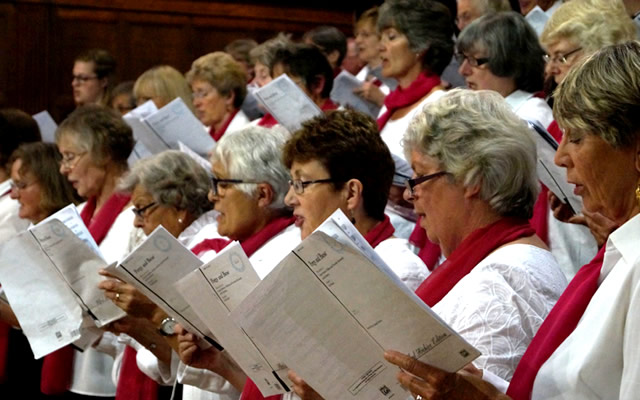 Bruton Choral Society performing their May 2016 summer concert