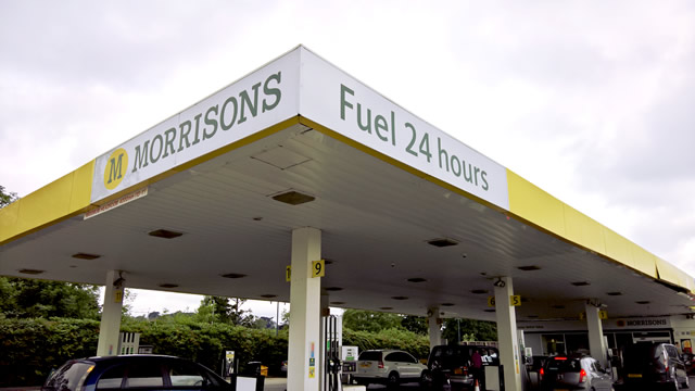 Morrisons fuel station in Wincanton, now pumping 24/7
